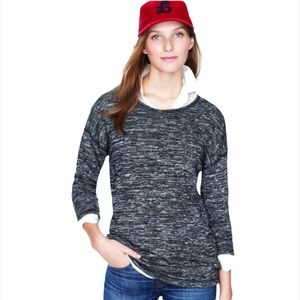 J. Crew Black & White Jaspe Tunic Sweater Top